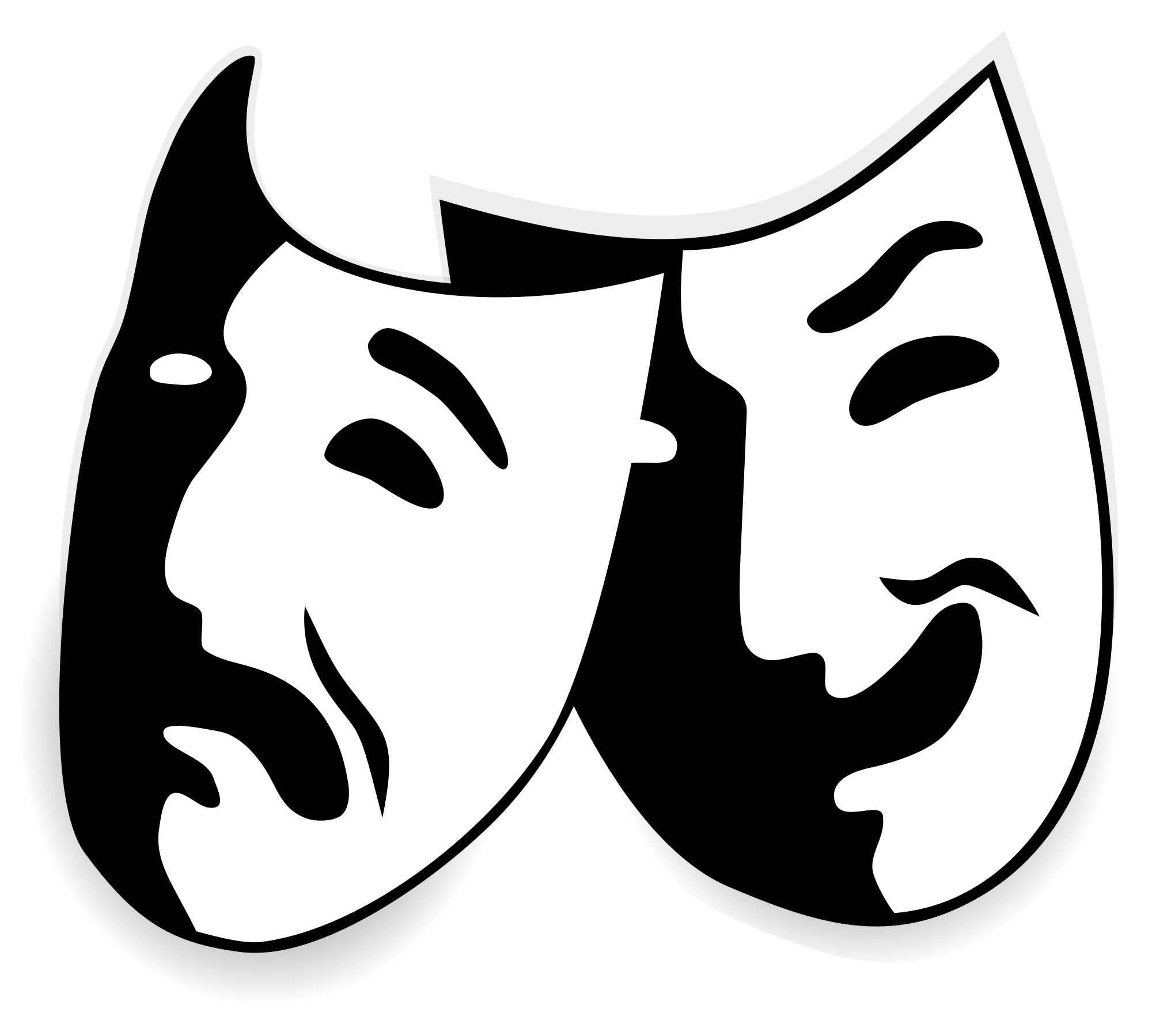 Theatre clipart opera stage. File comedy and tragedy