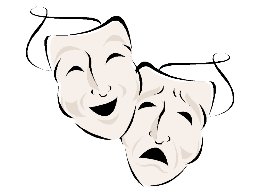 How to draw drama. Theatre clipart physical theatre