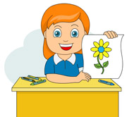 Draw clipart. Girl drawing at getdrawings
