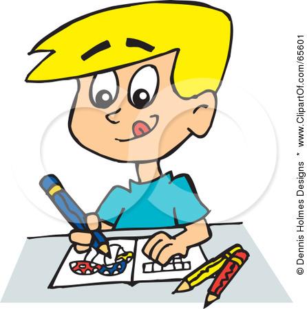 Boy drawing clip art. Cashier clipart kid