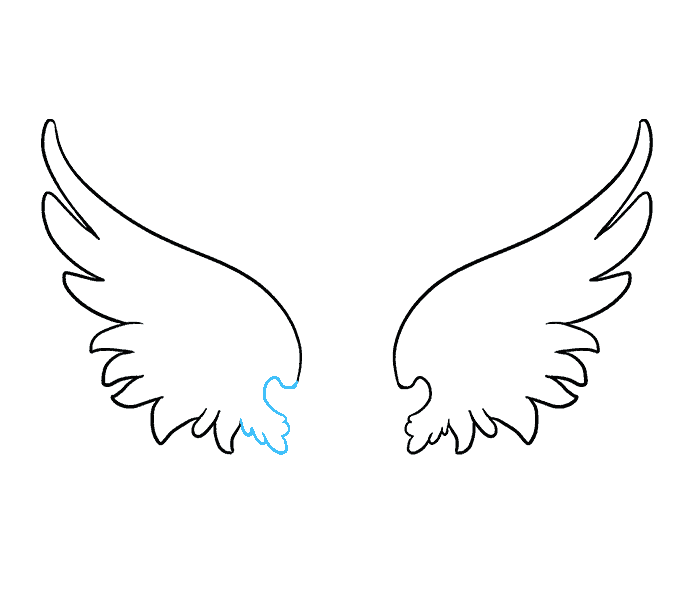 Wing clipart one wing. How to draw angel