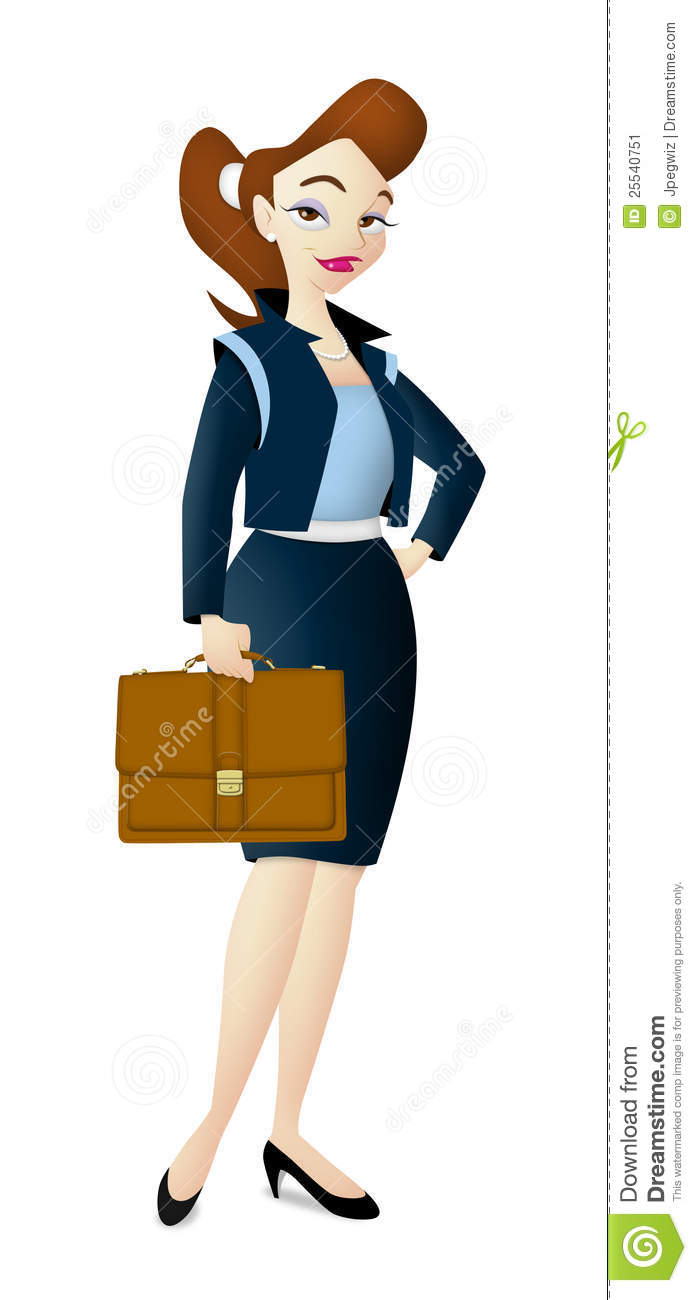 Draw clipart career woman.