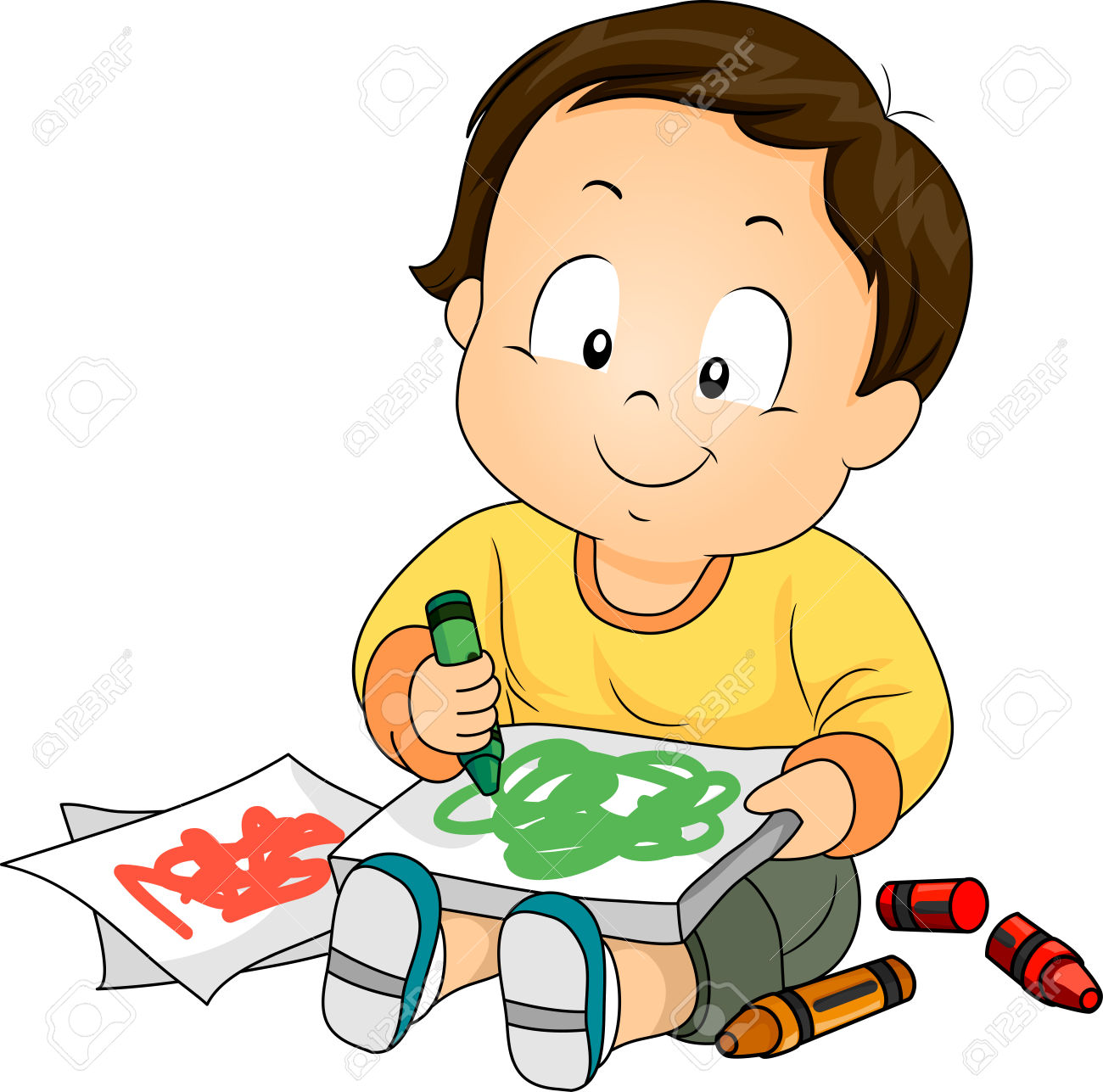 Drawing clipart childrens art. Child free download best