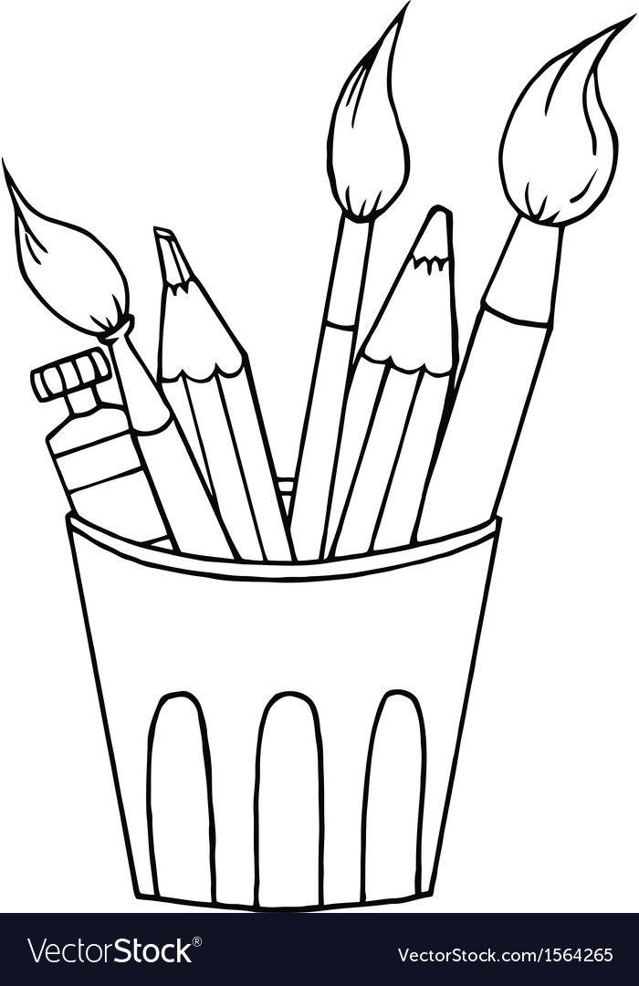 Pin by lili on. Draw clipart coloring supply