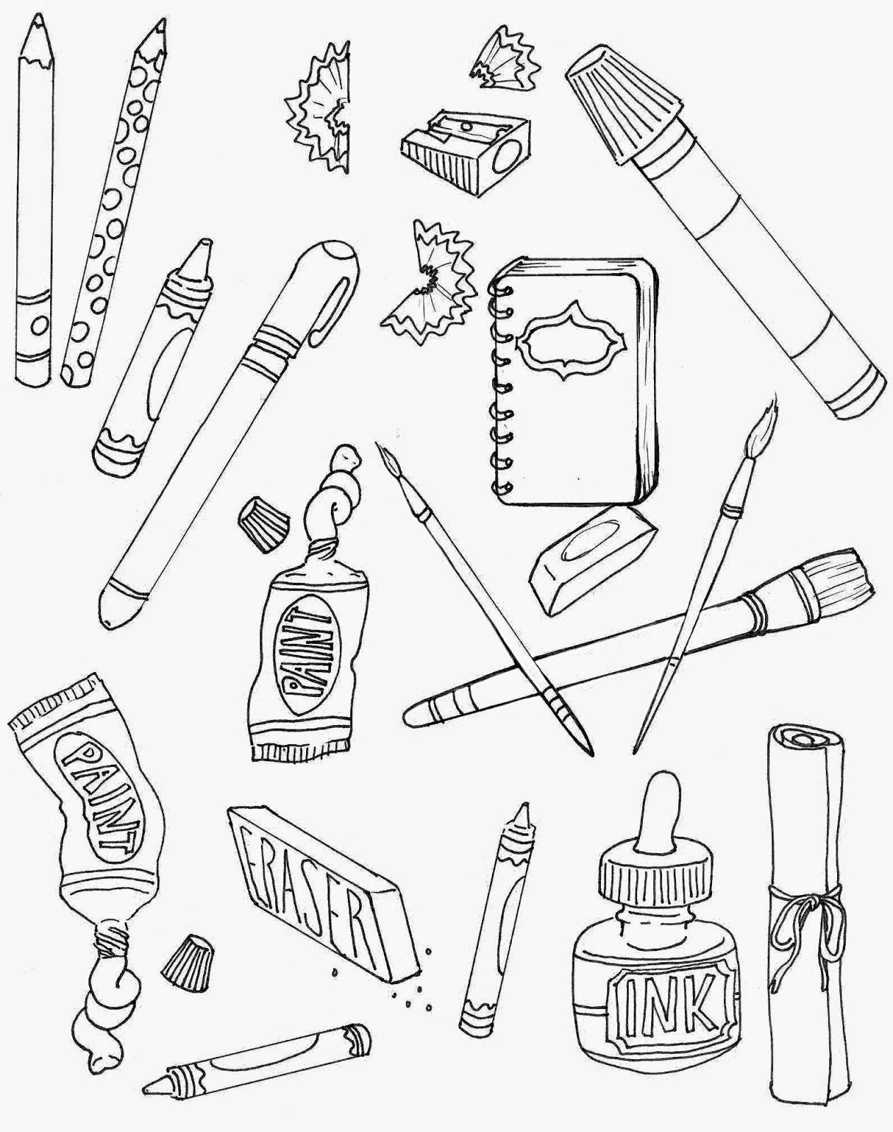 Free drawing download clip. Draw clipart coloring supply