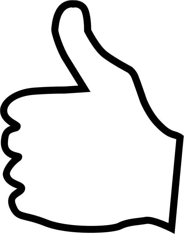 Thumb clipart double. Thumbs up drawing at