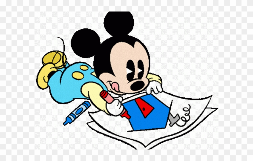 Disney baby mouse coloring. Mickey clipart drawing