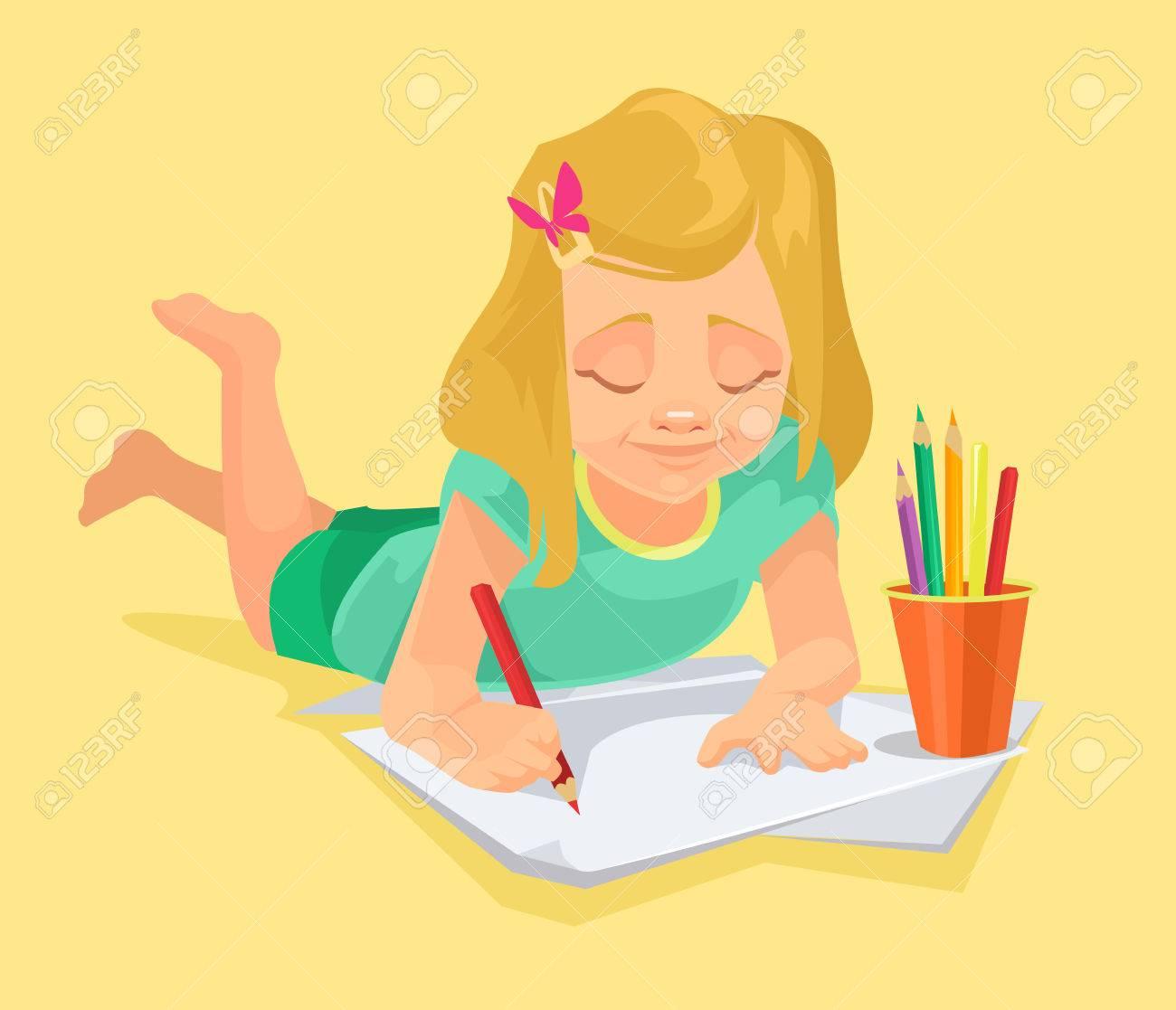 Draw clipart girl draw. Drawn little cartoon x