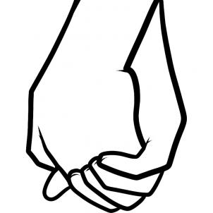 Free drawings of hands. Draw clipart hand holding