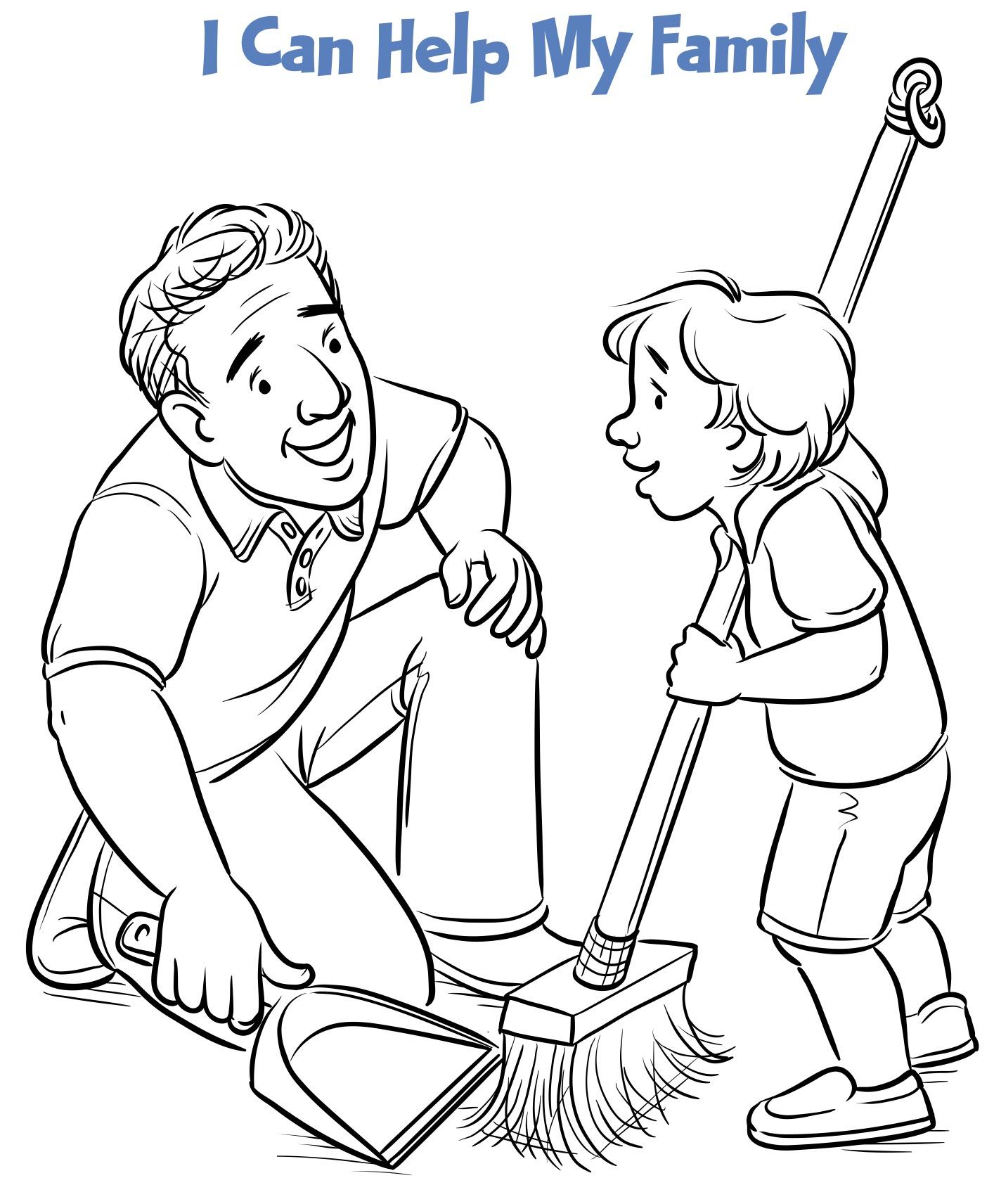 draw clipart kid responsibility