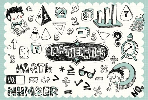 Draw clipart math drawing. Vintage school illustration with
