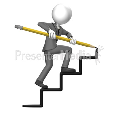 Draw clipart presentation. Business man stairs great