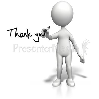 Draw clipart presentation. Stick figure drawing thank