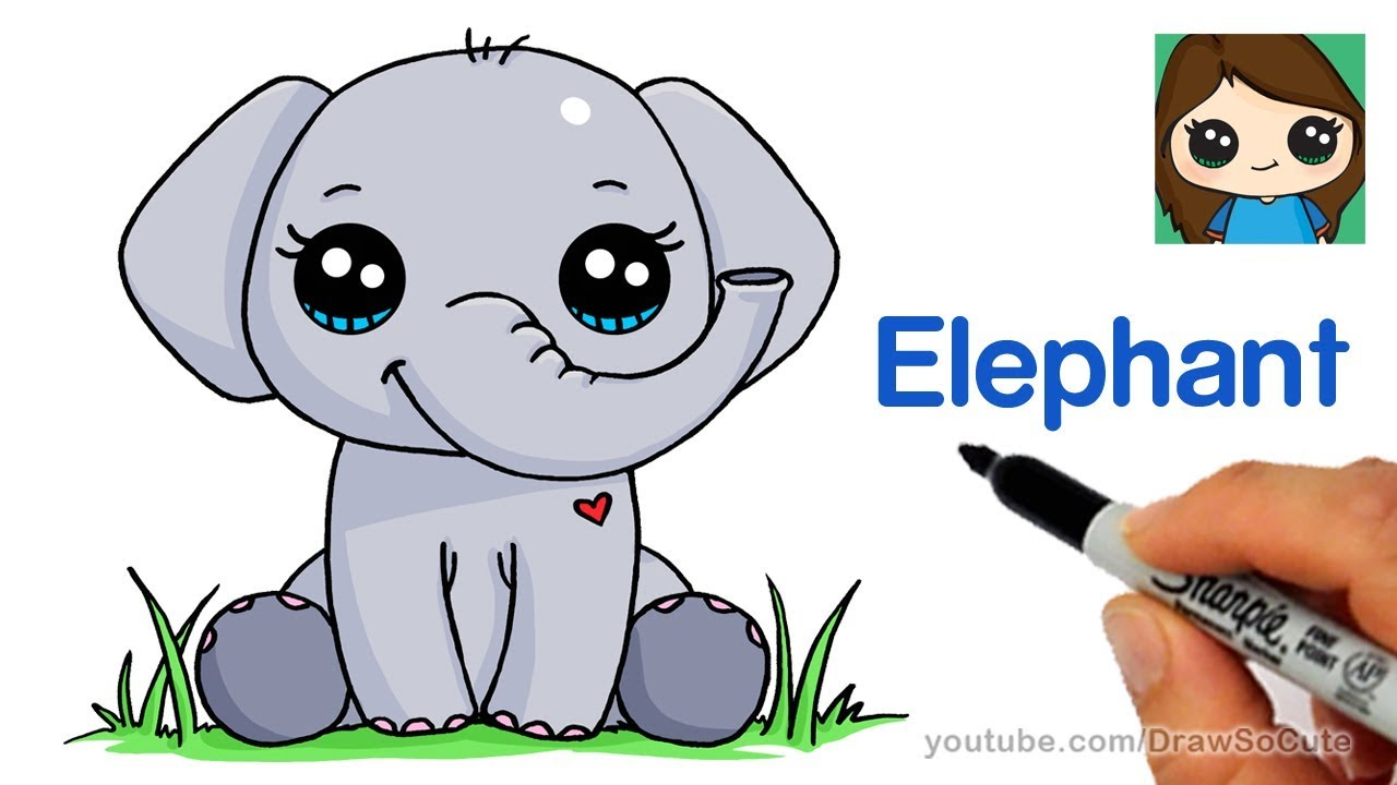 Draw clipart show. How to an elephant