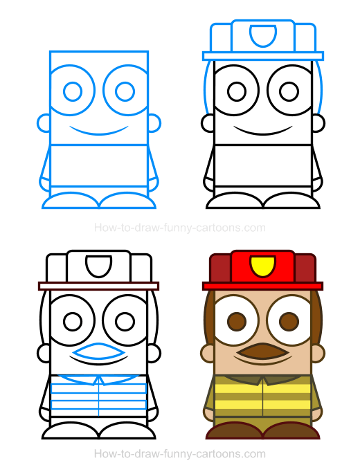 How to character cliparts. Draw clipart show