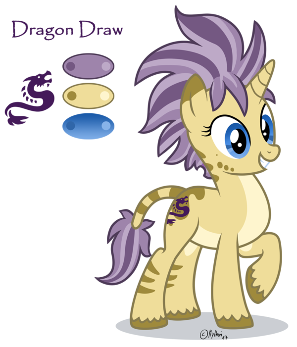 Pony oc dragon style. Draw clipart show and tell
