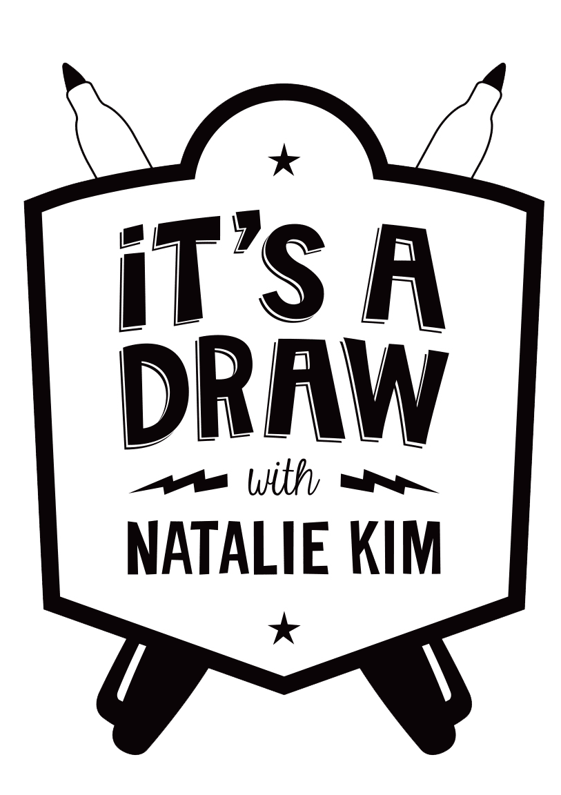 An interview drawing . Draw clipart show and tell
