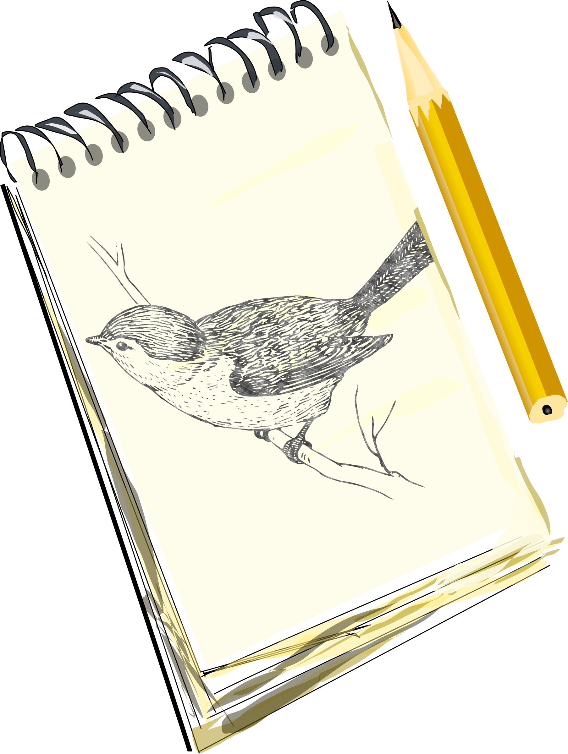 Draw clipart sketch artist. Sketchpad with drawing of