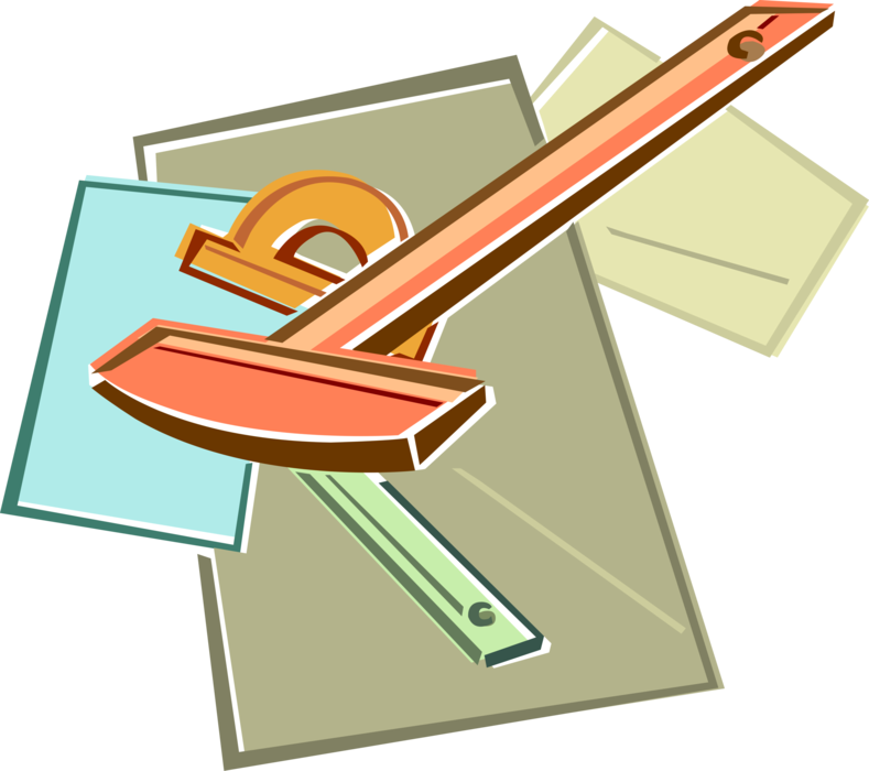 Draw clipart technical drafting. Drawing and instruments vector