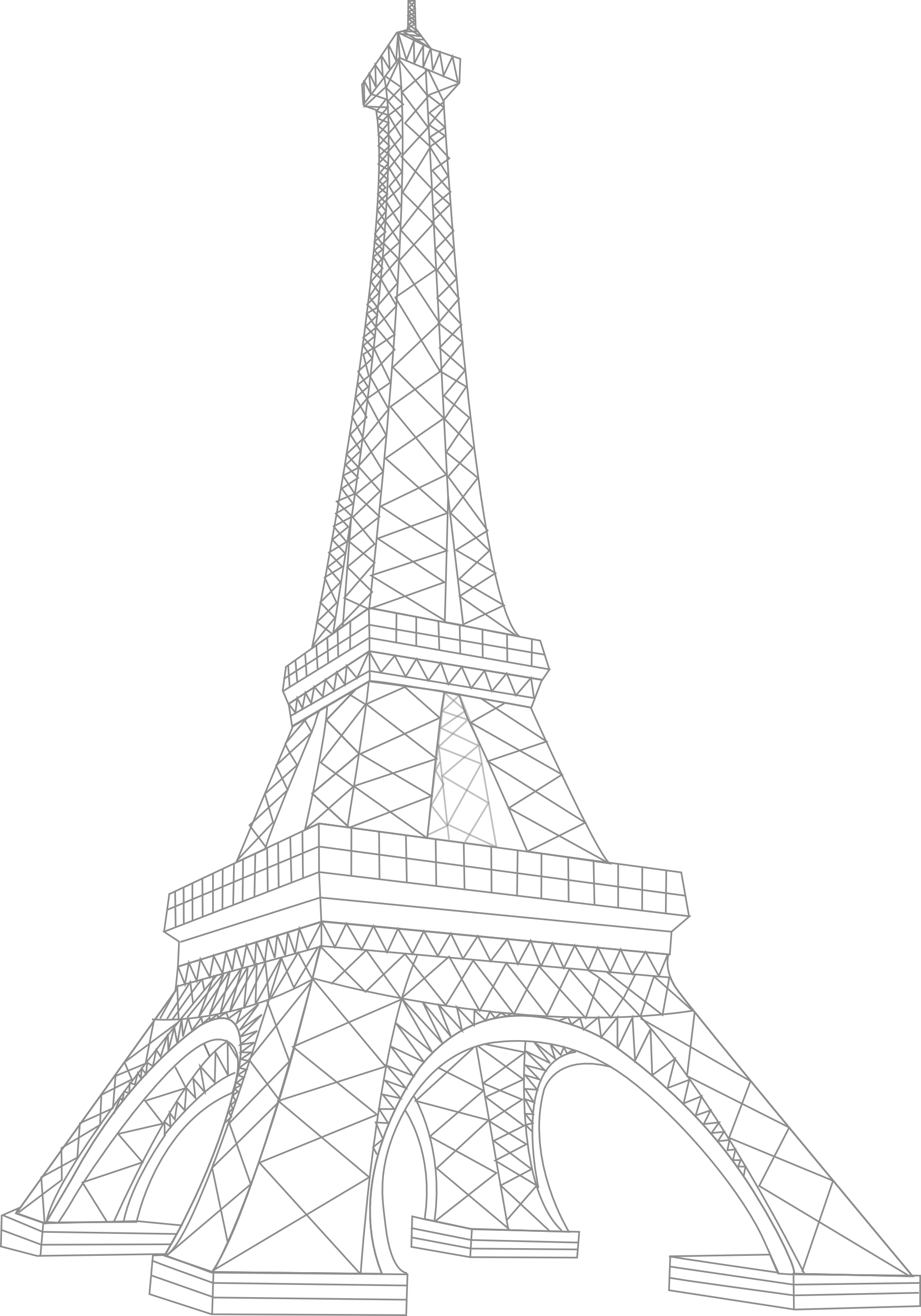Eiffel drawing at getdrawings. Tower clipart easy