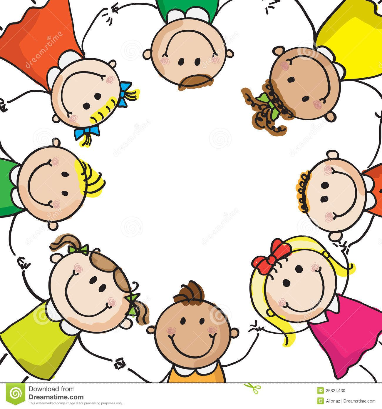 Draw clipart toddler. Children holding hands drawing