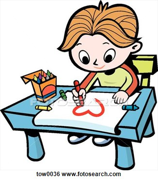 Drawing clipart. Students