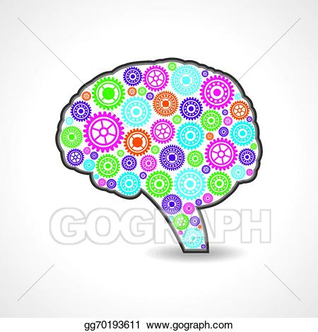 Mind clipart colorful. Vector stock creative with