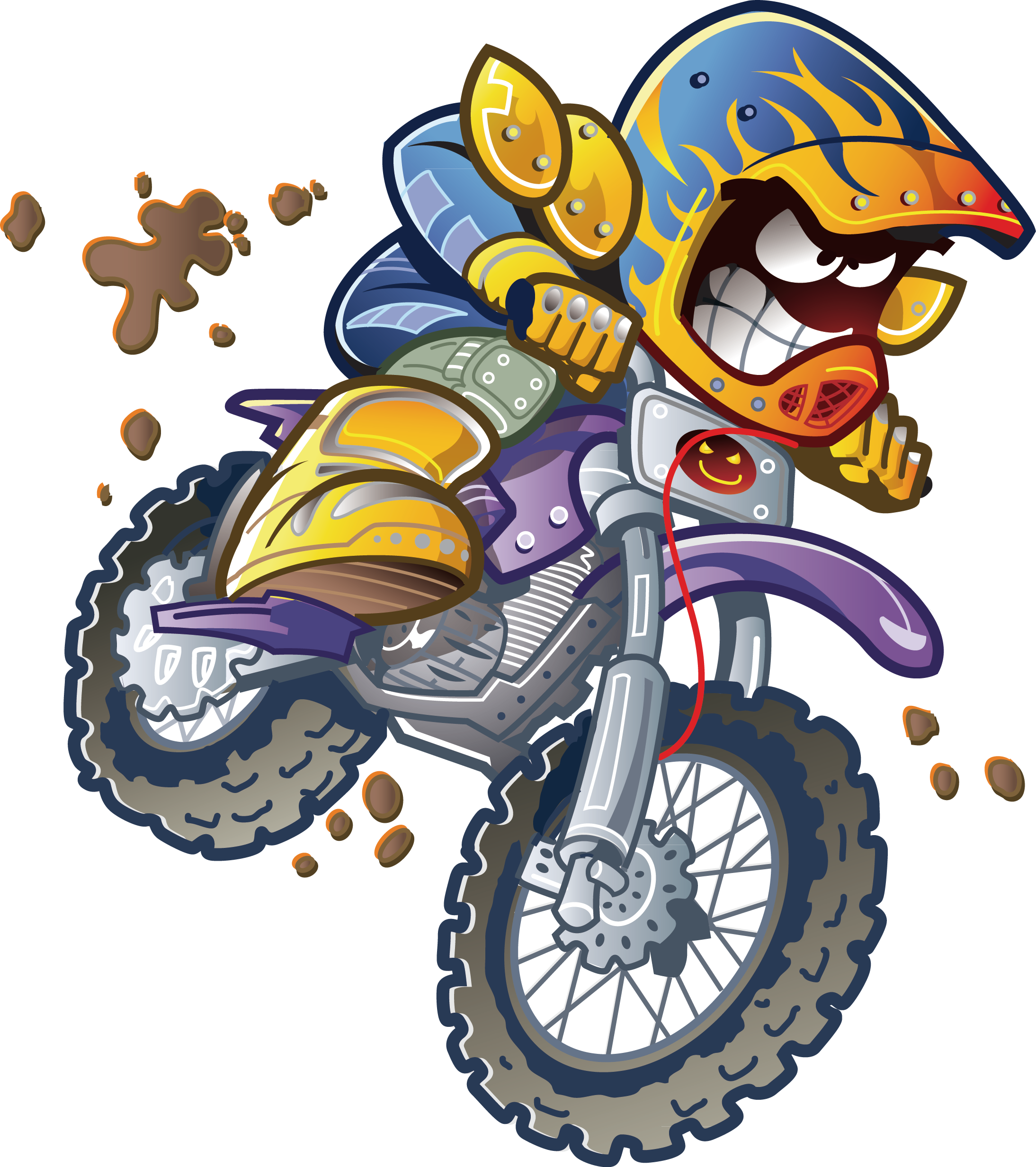 Motorcycle cartoon clip art. Drawing clipart hand painting