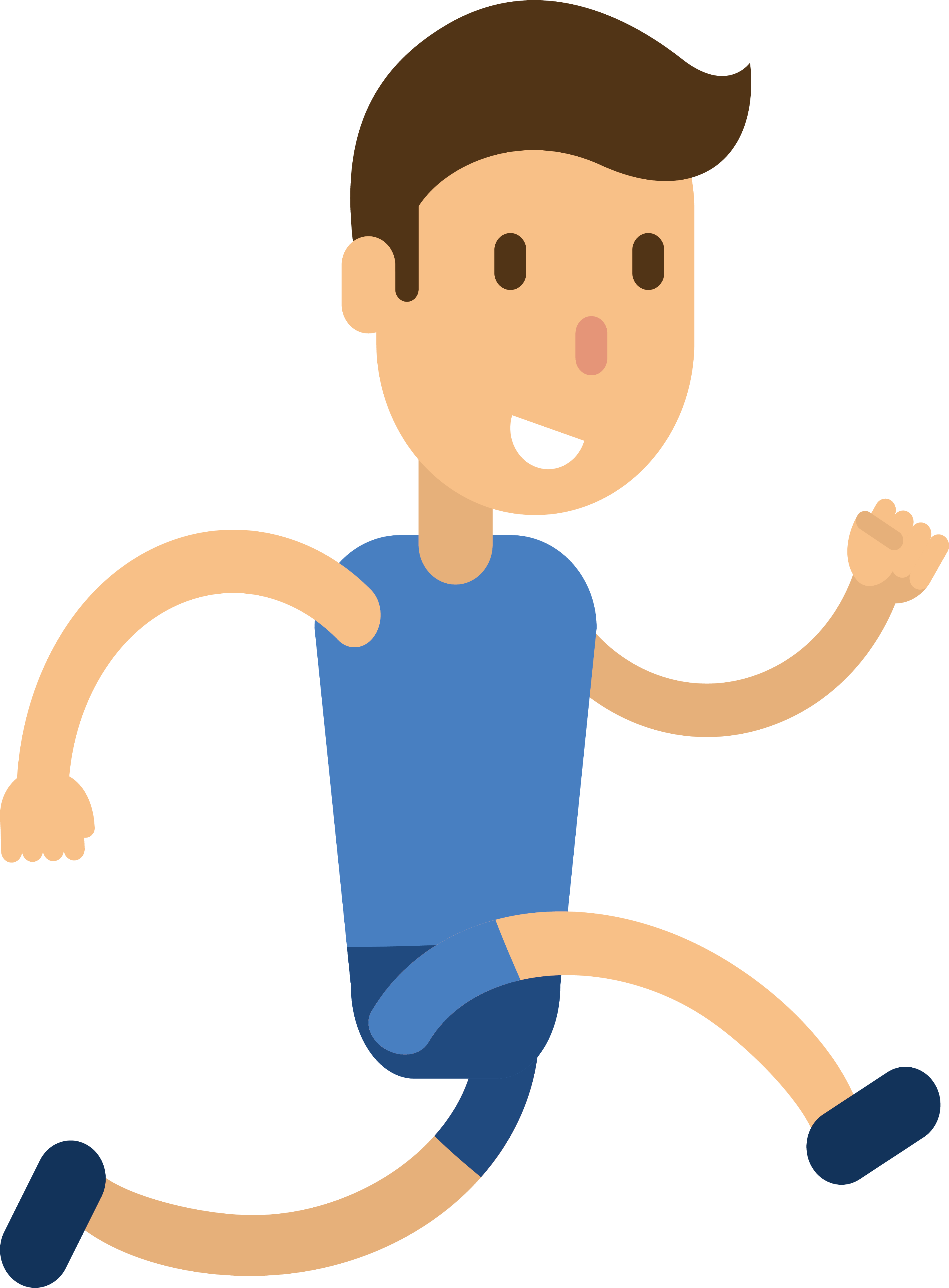 Drawing clipart healthy child. Running athlete illustration boy