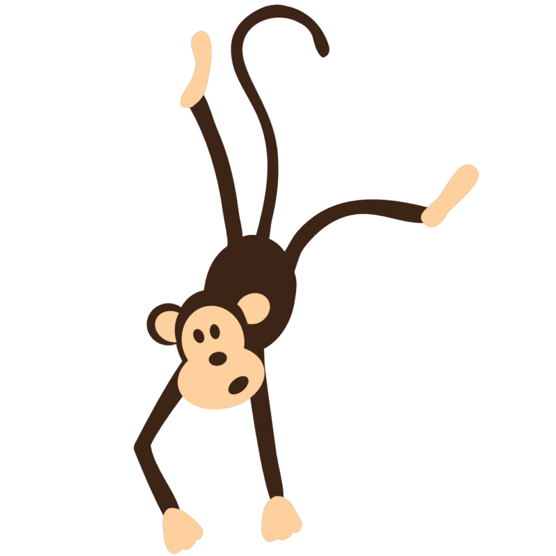 free black and. Tree clipart monkey