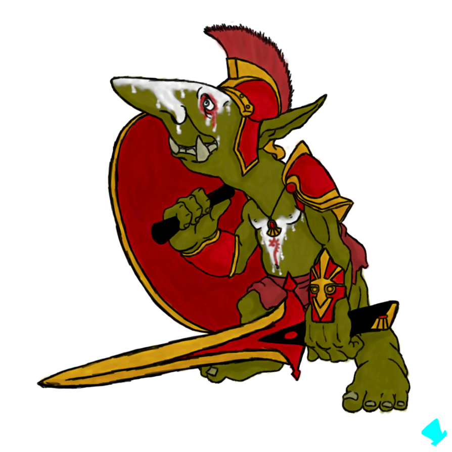 Pen n goblin paladin. Drawing clipart pens and paper