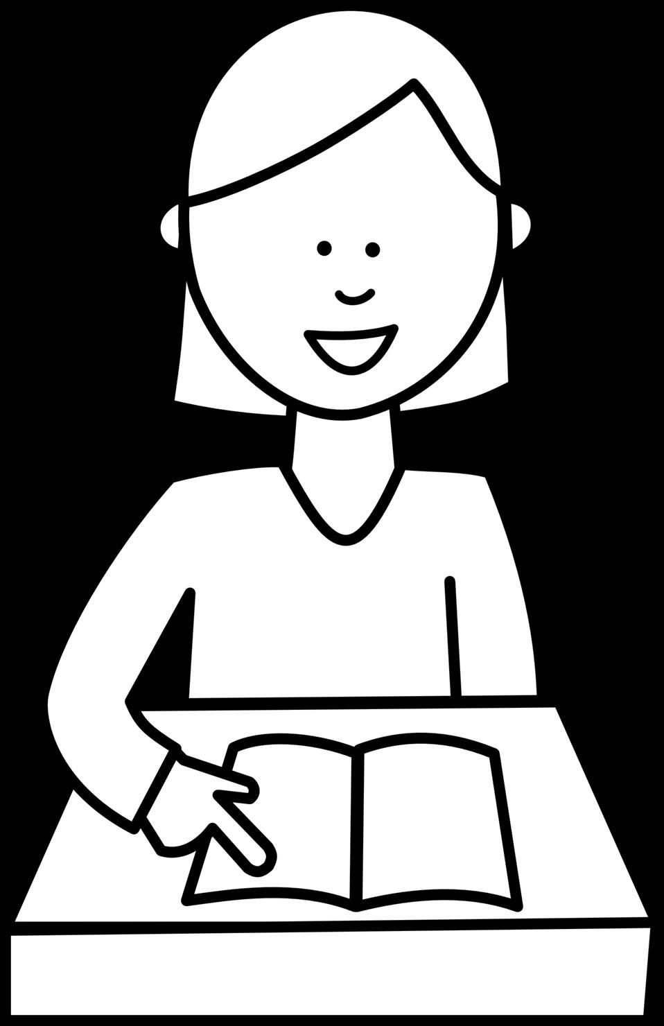 Drawing clipart student. Public domain clip art