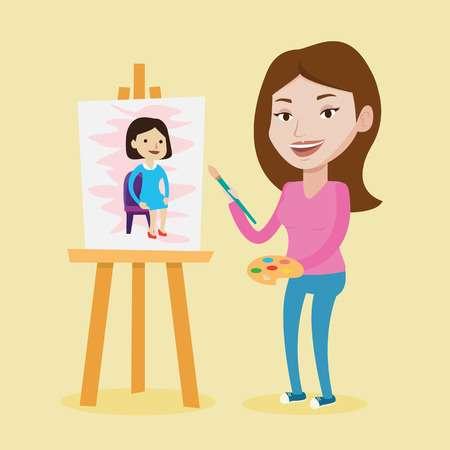 Drawing clipart woman artist. X free clip art
