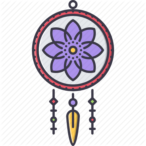 Culture filled outline by. Dream catcher vector png