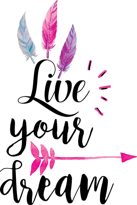 Live your svg boho. Dream clipart