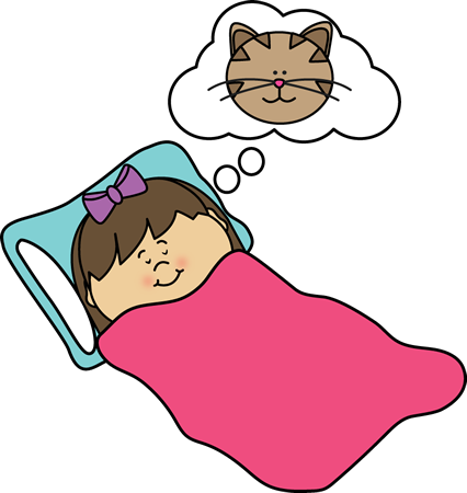 Dream clipart. Girl dreaming clip art