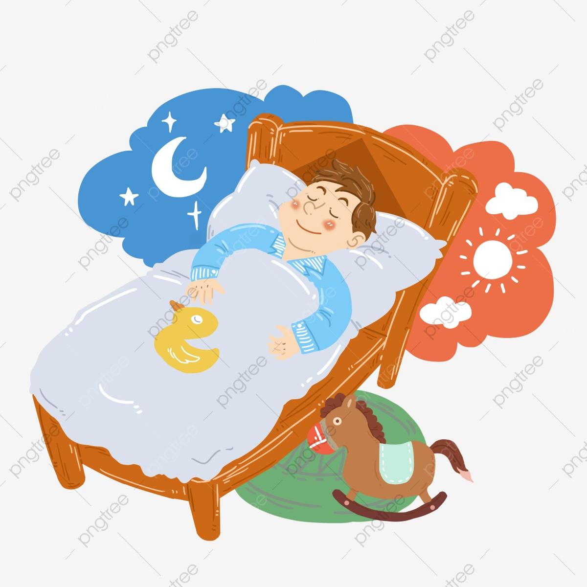 Little boy of sleeping. Dreaming clipart bedtime