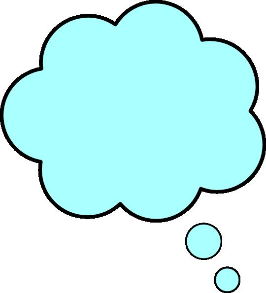 Blue thought bubble clip. Dream clipart bubbles