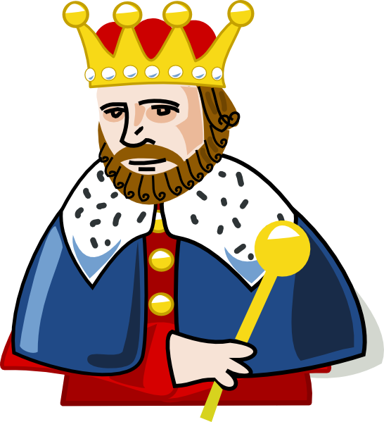 Organization clipart chairman. The king who makes