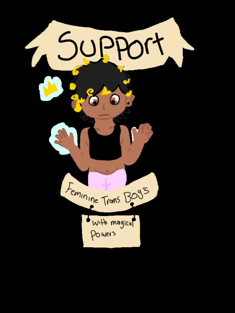 Dreams clipart femininity. Support feminine trans boys