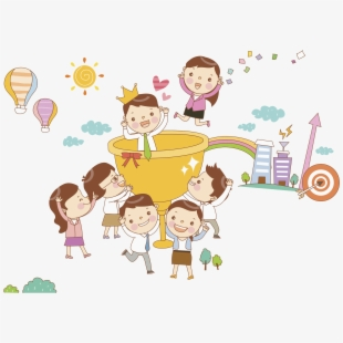 Hope clipart hope dream. Thoughts children with trophy