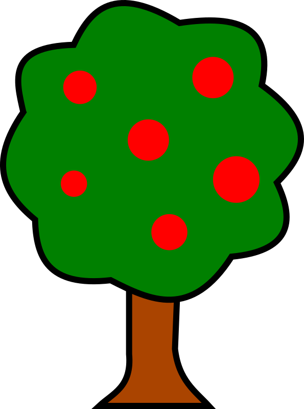 Tree clipart fruit. Medium image png