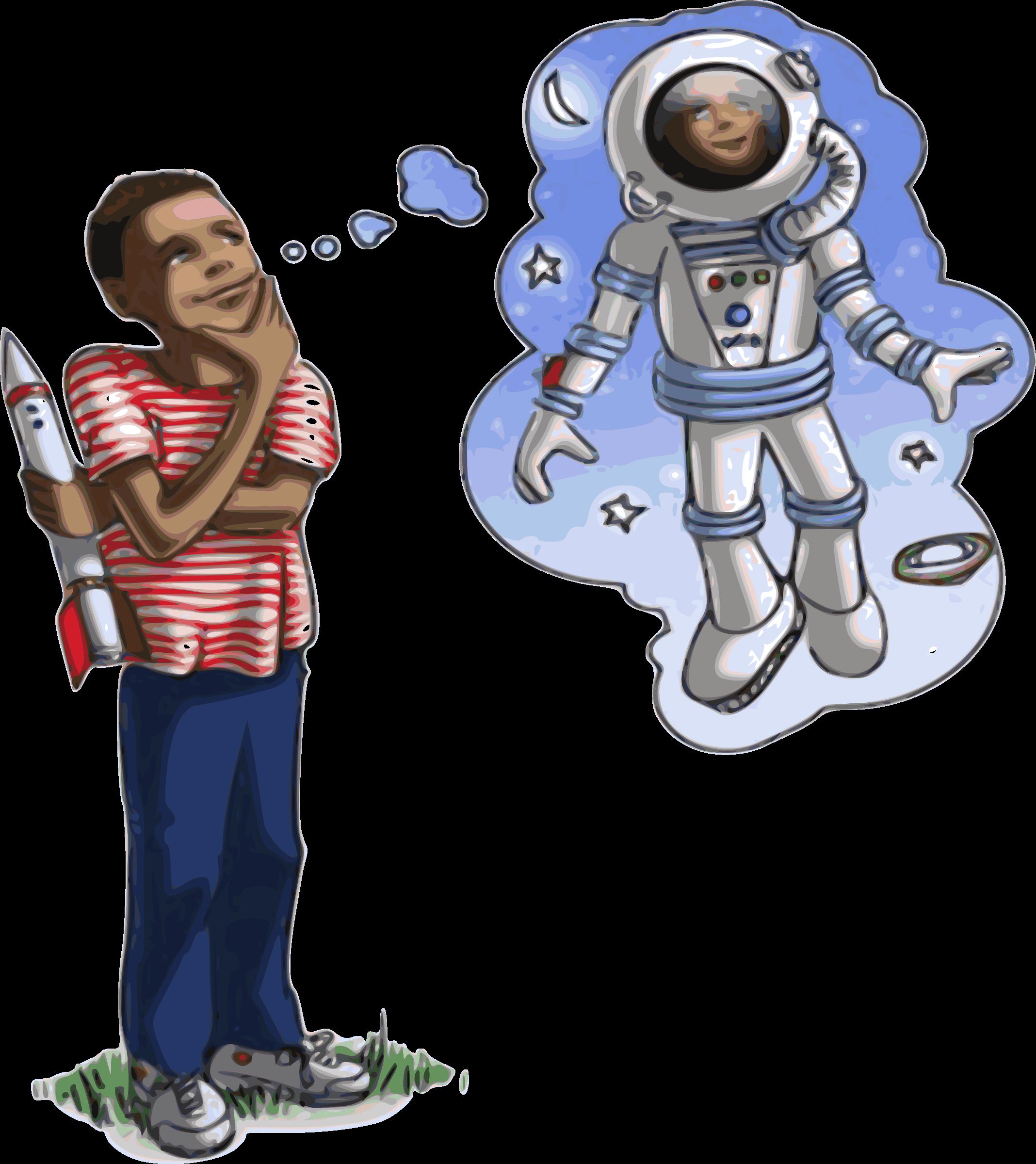 Astronaut dreams big image. Future clipart future dream