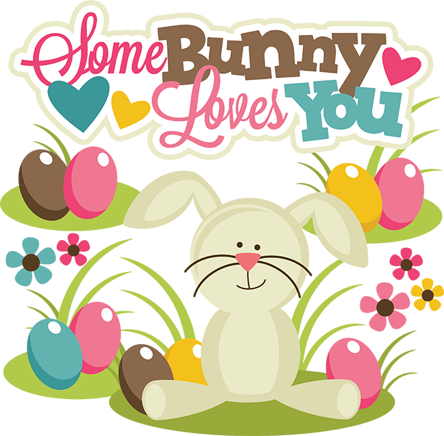 Scrapbook clipart easter. Some bunny loves you
