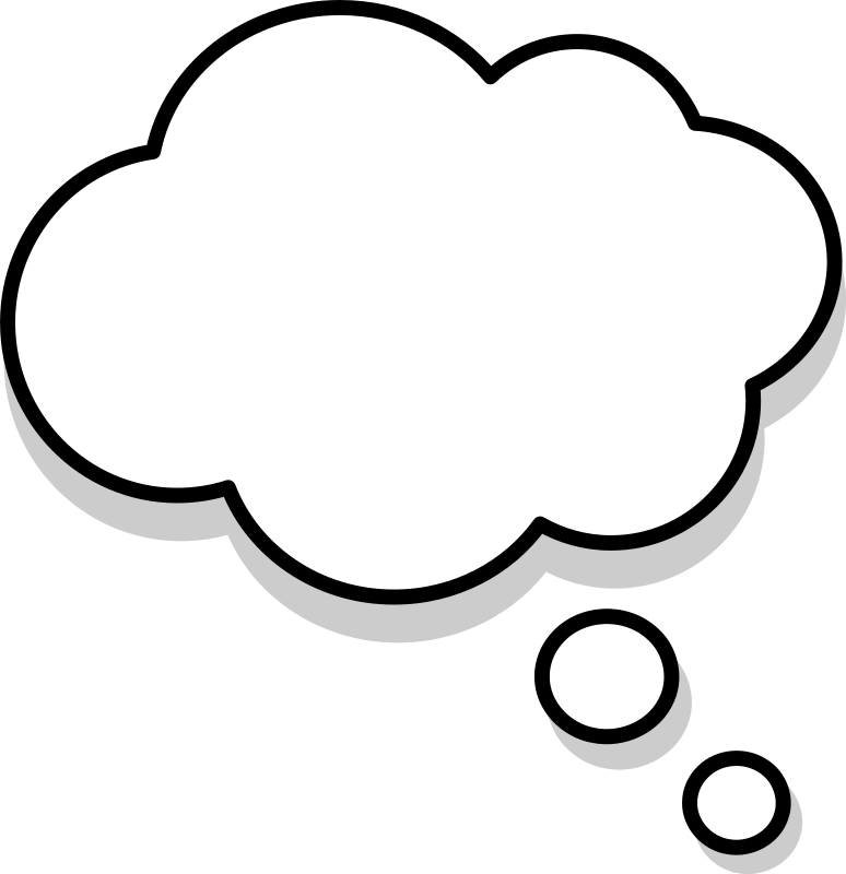 Thoughts clipart dream bubble. Bulle medium image png