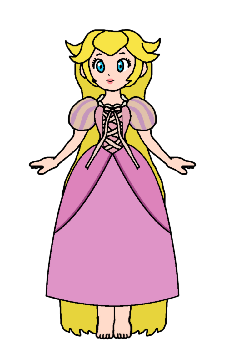 Dream clipart toddler bed. Peach rapunzel doll by