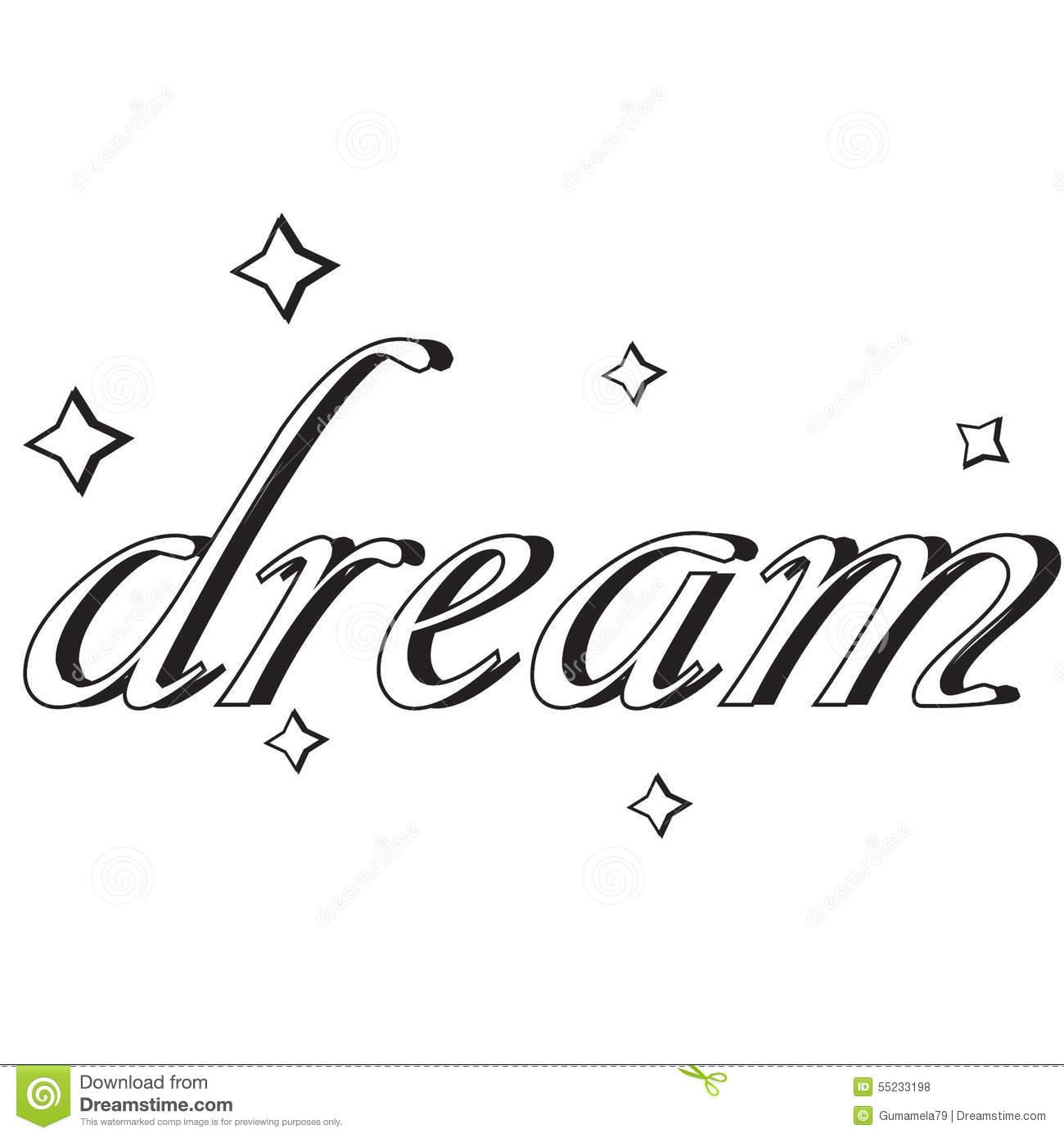 Dreaming clipart dream word. Clip art panda free