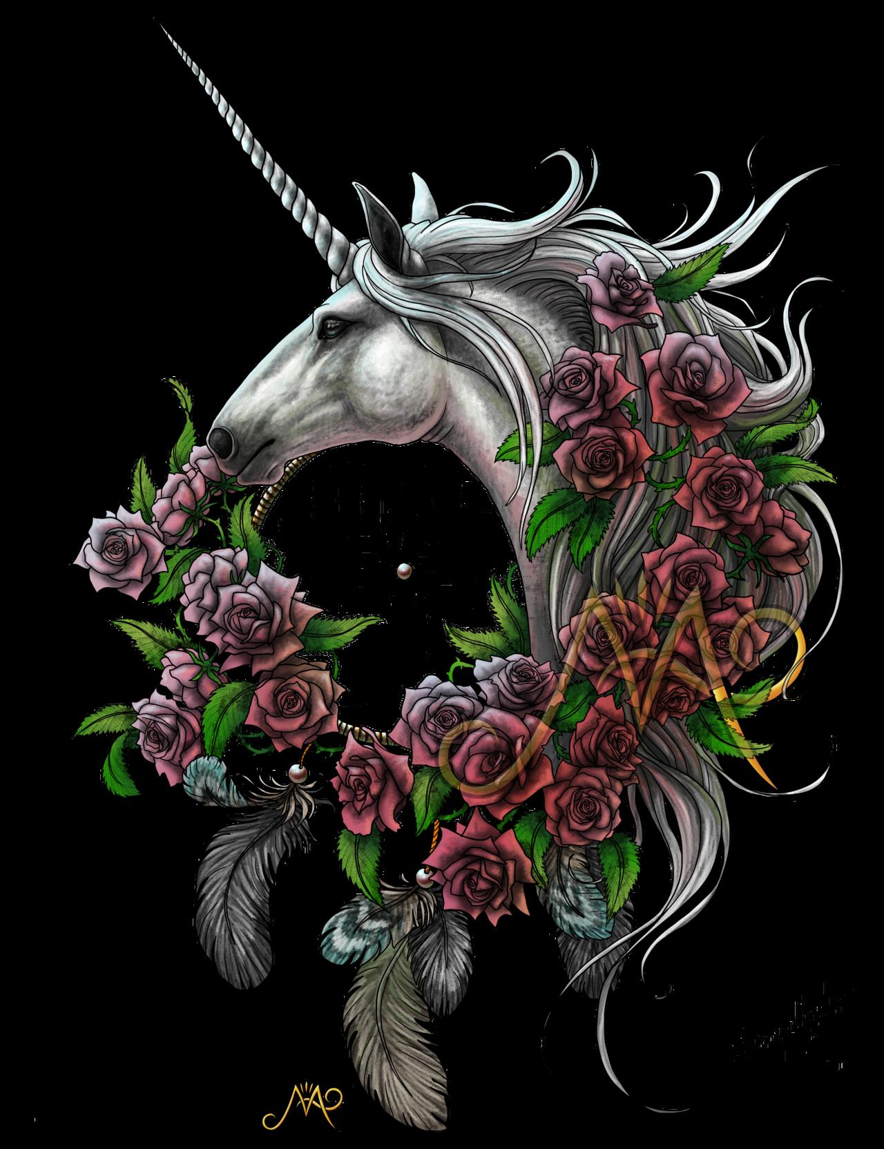 Dreamcatcher clipart bead tattoo. Unicorn by sunima mystical