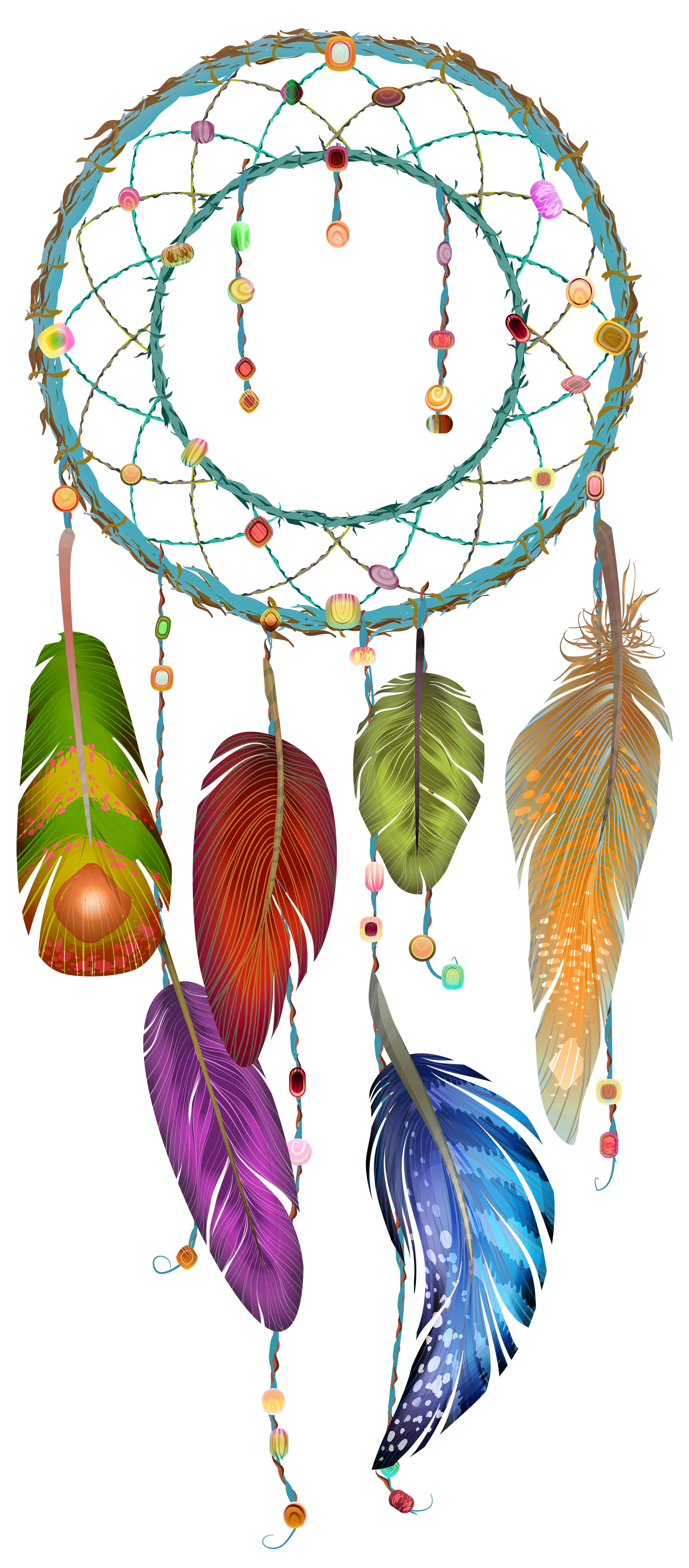 Pin by on dream. Dreamcatcher clipart bead tattoo