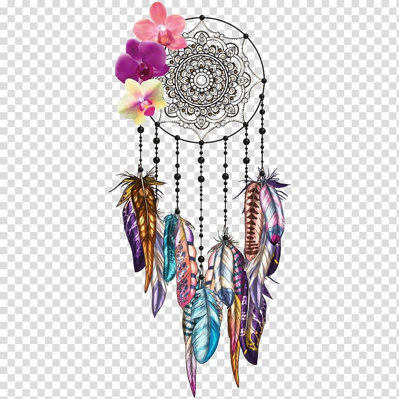 Orchids sticker wall decal. Dreamcatcher clipart bead tattoo